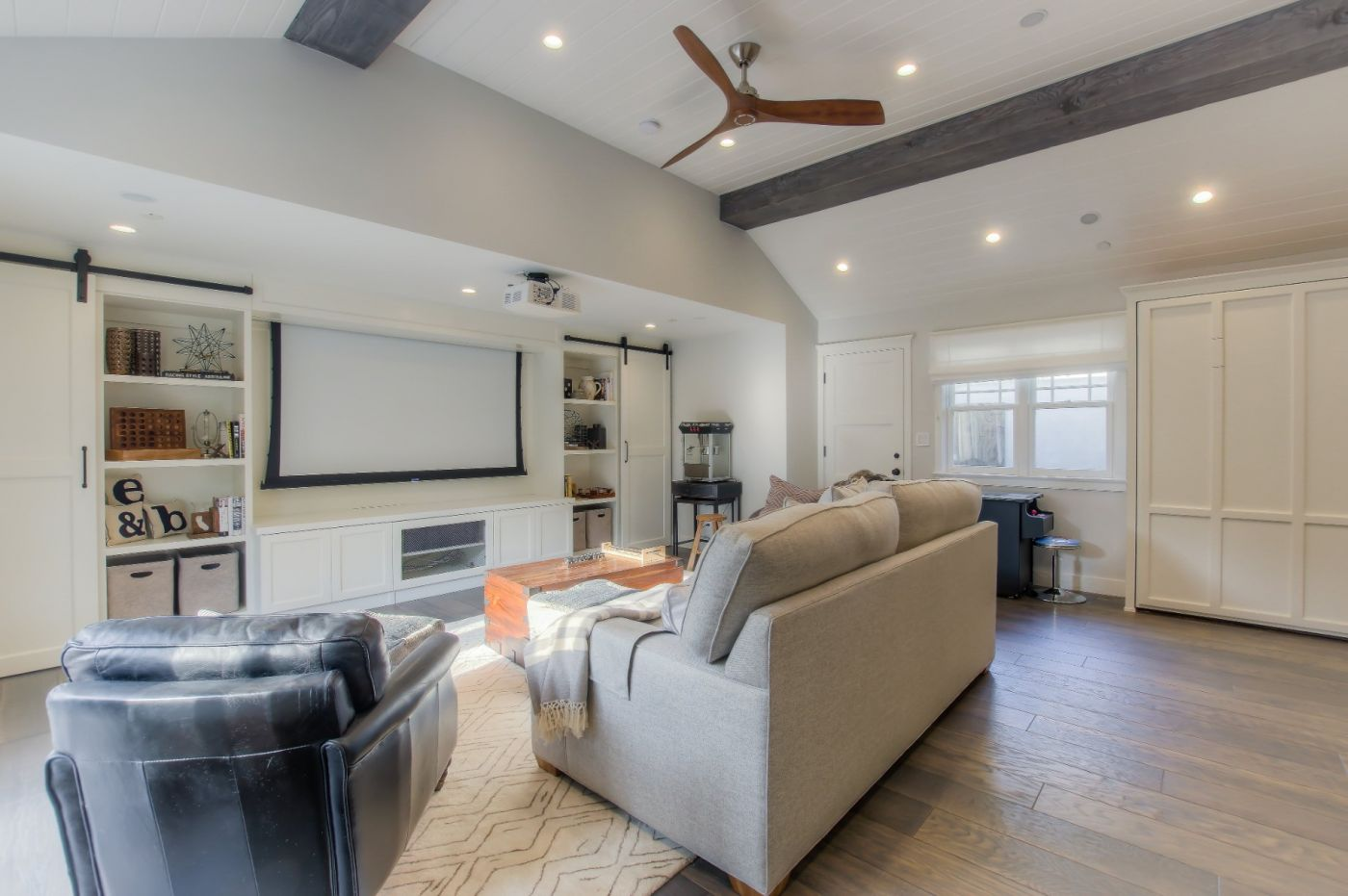 Home Tour From Boring Garage To Personal Movie Theater