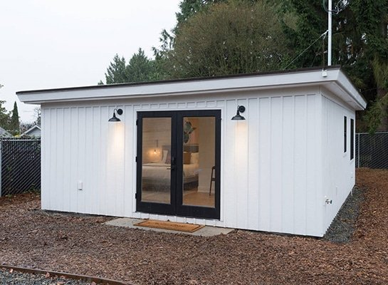2 Car Garage Conversion Becomes Home Office Airbnb Rental