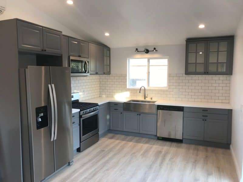Minimalist Garage Converted Into A Kitchen Ideas: LA Chic: From Old Garage To Sleek One Bedroom